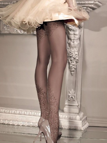 Ballerina Tights with Lurex Pattern